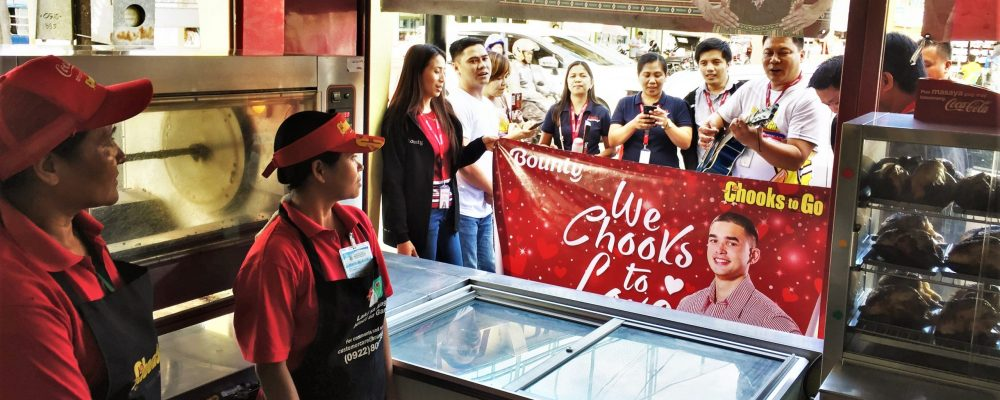 BAVI team serenades a store crew in Pangasinan
