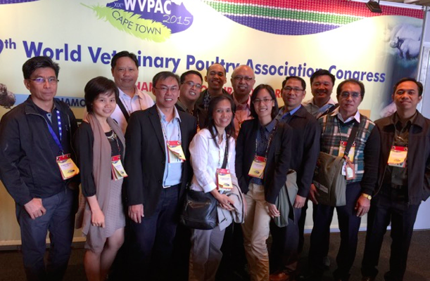 BAVI VP Dr. Mark Paderes with other Filipino veterinarians attended the 19th World Veterinary Poultry Association Congress in Cape Town, South Africa last September 7-11, 2015