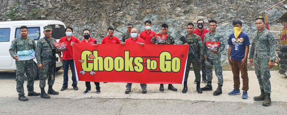 Chooks-to-Go team in Zamboanga City