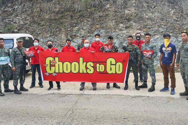 Chooks-to-Go team in Zamboanga City