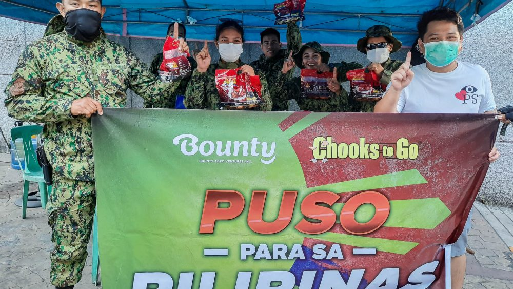 Chooks-to-Go has been giving roasted chicken to checkpoint personnel since the enhanced community quarantine started