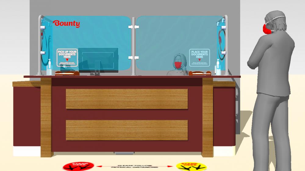 Bounty's redesigned reception area