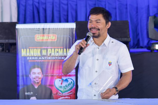 Manny Pacquiao, Chooks-to-Go Visit Mindanao