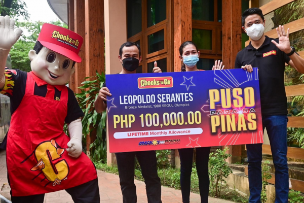 Chooks-to-Go to Give P100K Monthly Allowance to Ailing Olympian Serantes